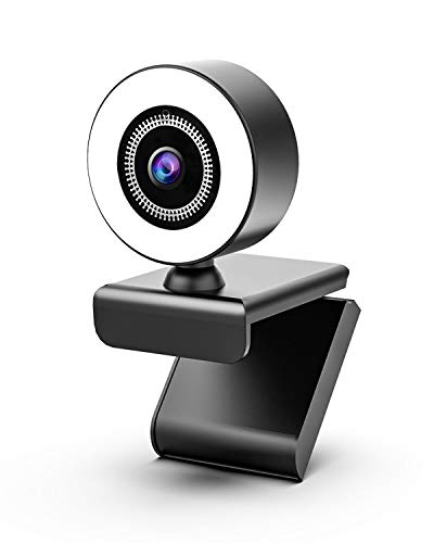 OVIFM Streaming Webcam with Ring Light and Microphone,2K Web Camera for PC/MAC/Laptop/Desktop,Wide Angle Web Camera for YouTube,Skype,Zoom,Xbox One Video Calling,Studying and Conference