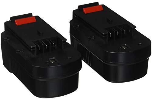 [2-Pack] Forceatt HPB18 18V 3000mAh Ni-Cd Battery Replacement for BLACK&DECKER 18 Volt Cordless Power Tool HPB18-OPE 244760-00 Firestorm Fsx-treme FSB18 FS18C FS18BX FS180BX FEB180S A18 A1718 A18NH (Tb Battery Pack)