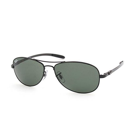 Ray Ban Tech Sunglasses RB8301 002 Black/Crystal Green, ()