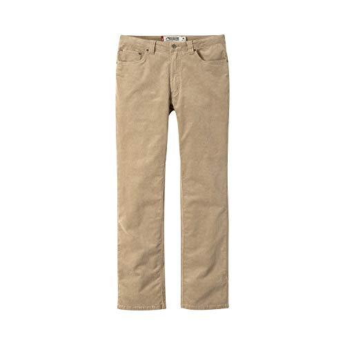 Mountain Khakis Mens Pants: Canyon Cord Pant Slim Tailored Fit - Low Rise Corduroy Fabric, Retro Khaki, 34W 30L