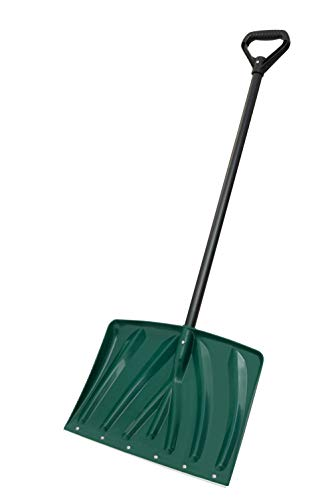 Suncast SN1250 18-Inch Snow Shovel with Wear Strip, Green