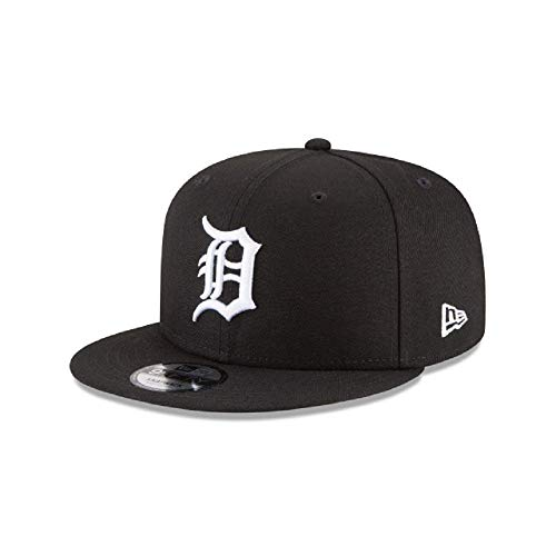 New Era Detroit Tigers MLB Basic Snapback Black White 950 Adjustable Cap
