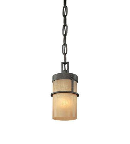 (Mini Pendants 1 Light with Bamboo Bronze Finish Hand-Worked Wrought Iron Material Medium 5 inch Wide 60 Watts)
