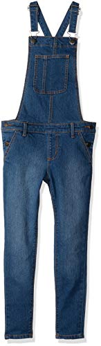 Crazy 8 Girls' Big Basic Overall, Medium wash Denim, 12