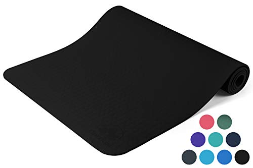 Clever Yoga Mat Non Slip – Longer And Wider Than Other Exercise Mats – ¼-Inch Thick High Density Padding To Avoid Sore…
