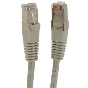 (GOWOS Cat5e Shielded Ethernet Cable (200 Feet - Gray) 26AWG Network Cable with Gold Plated RJ45 Snagless/Molded/Booted Connector - 1Gigabit/Sec High Speed LAN Internet/Patch Cable - 350MHz)