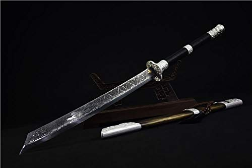 Tomahawk Flying Tigers - Chinese Sword,Flying Tiger Saber,Handmade High Carbon Steel Blade,Brass Scabbard-Cut Tree