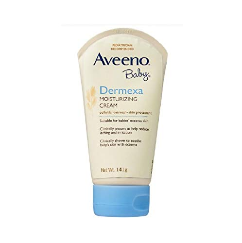 Aveeno Baby Eczema Therapy Moisturizing Cream, Natural Colloidal Oatmeal & Vitamin B5, Moisturizes & Relieves Dry, Itchy, Irritated Skin Due to Eczema, Paraben- & Steroid-Free, 5 oz