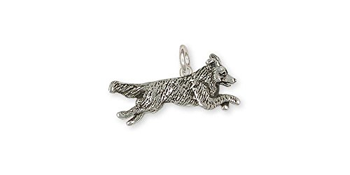 Border Collie Jewelry Sterling Silver Border Collie Charm Handmade Dog Jewelry BDC4-C