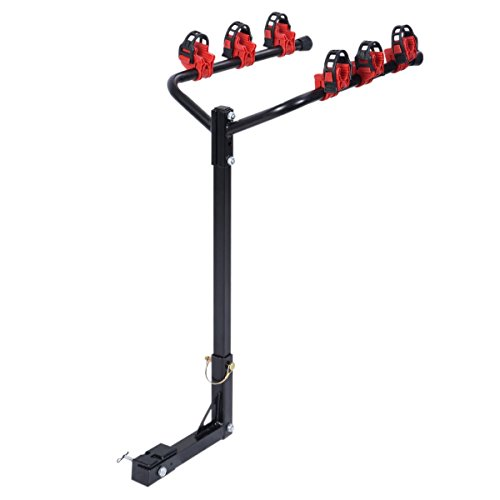 zeny car bike rack 4-bike hitch mount rack w   2-inch receiver