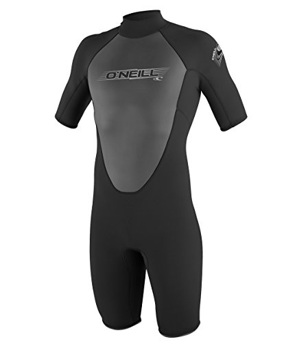 O'Neill Men's Reactor 2mm Back Zip Spring Wetsuit, Black/Clean Green/Graphite, Small