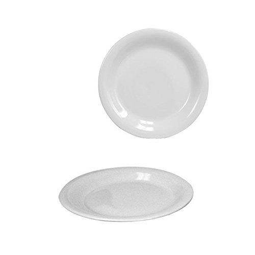 """Home Basics 10.5"""" Ceramic Dinner Plate White CD01935"""