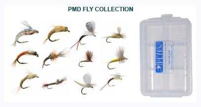 Pale Morning Dun Collection - 12 Trout Flies + Fly Box