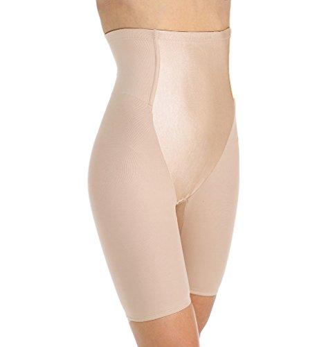 Va Bien Firm Control Satin Panel Hi-waist Brief Shapewear (2X Cafe)