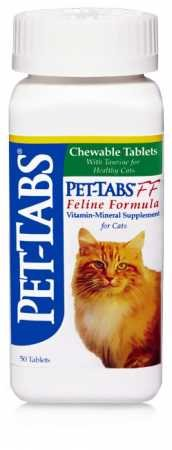 Virbac Pet-Tabs FF (Feline Formula), 50 ct. (Made in USA)