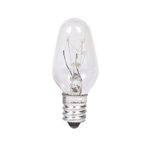 Philips Night Light Clear C7 Indicator Bulb: 46-Lumen, 7-Watt, Candelabra Base, 24-Pack (Clear Indicator Bulb Incandescent Light)