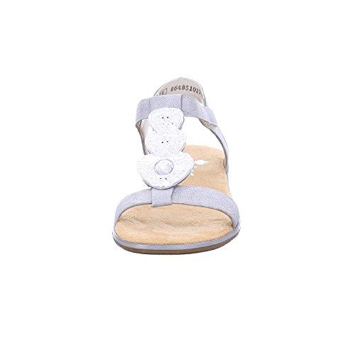 Rieker - Botas de cuero para mujer metálico