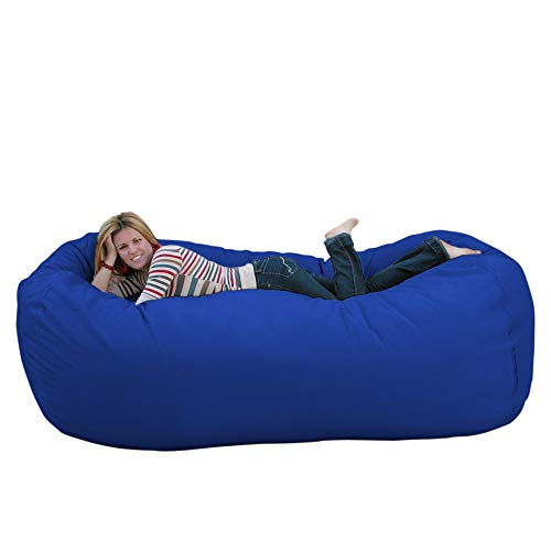 (Cozy Sack 8-Feet Bean Bag Chair, X-Large, Royal Blue)