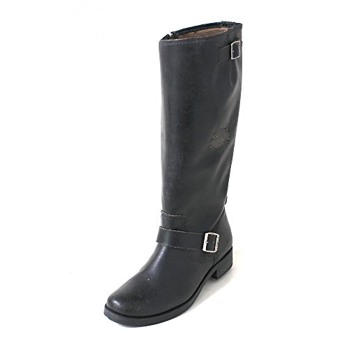 sale shopping online free shipping latest collections Harley Davidson KANANWOOD Ladies Leather Zip Buckle Biker Boots Black Schwarz jsM701