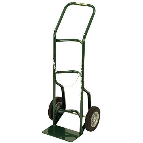 Harper Trucks 701-86 48-Inch High by 21-Inch Wide Utility Hand Truck with 10-Inch Solid Rubber Wheels ()