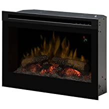 Dimplex 26 inches Fireplace Insert - Flat Face Front Glass Stays Cool, Safe to Touch, On Screen Display to View Temperature Settings and Functions Easily, No Harmful Particulates or Emissions and 100% Efficient - Warms Room Up to 37.2 m²