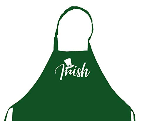St Patrick's Day I'm Irish Top Hat Cooking Kitchen Chefs Apron, BBQ Grill, Breathable, Machine Washable
