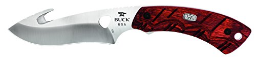 Buck Knives 0536RWG Open Season Skinner Guthook Fixed Blade Knife with Sheath, Rosewood -