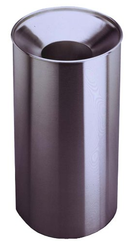Bobrick 2400 Stainless Steel Floor-Standing Large Capacity Waste Receptacle with Funnel Top, Satin Finish, 33 Gallon Capacity, 18-1/4