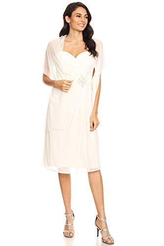 DFI Bridesmaid Dress Sweetheart LA Knee Length Ivory fIqI4r