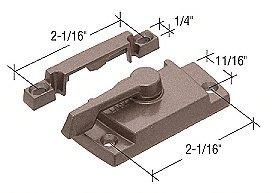 CRL Bronze Sash Lock With Lugs, 11/16