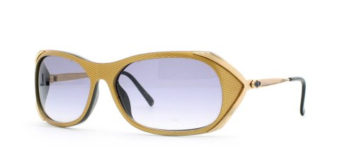 Christian Dior 2610 91 Yellow Certified Vintage Rectangular Sunglasses For Womens