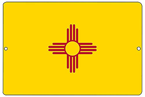xiSign Rogue River Tactical New Mexico State Flag Metal Tin Sign Wall Decor Man Cave Bar NM ()