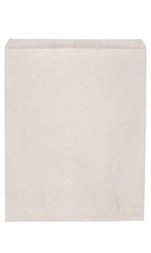 Jumbo White Kraft Paper Merchandise Bags - Case of 500 by STORE001