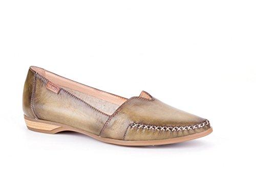 Pikolinos Rilassarsi Pantofola Bari W0s-4681c1 Scarpe Da Donna In Pelle Mocassino Verde
