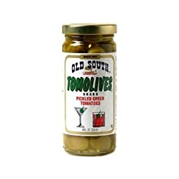 Old South Tomolives, Pickled Green Tomatoes, 8 Ounce (Pack of 12)