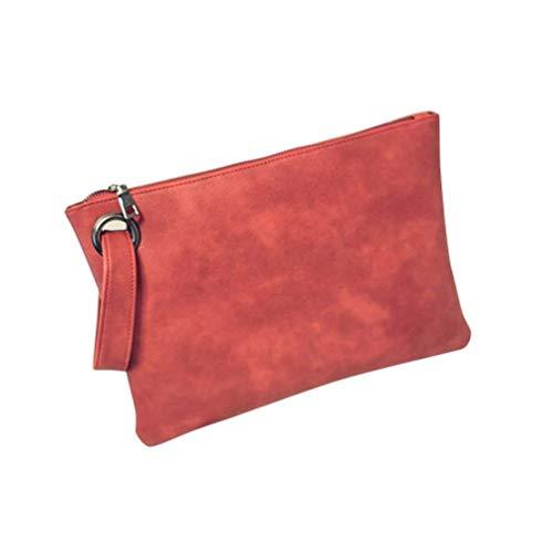 Leather Retro Tote Bag Wristlet Package Red Purse Clutch PU Handbag Handbag Evening Women Bag Envelope Oversized UxBqa51xw