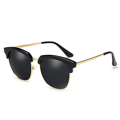 semi Gafas sin 100 gafas sol polarizadas turismo Color B de protección marco D ZHIRONG montura de de conducción UV400 XdqzyY