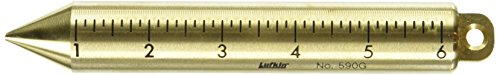 (Lufkin 590GMEN 20 Oz. Plumb Bob, Solid Brass, Metric And English, Black)