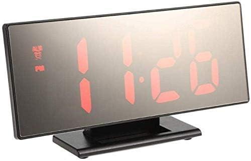 LEDデジタル目覚まし時計、電子時計ボーダレスTV目覚まし時計、多機能ミラー時計は外部電源に接続可能