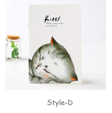Cuaderno de 4 colores de dibujos animados con diseño de gato ...