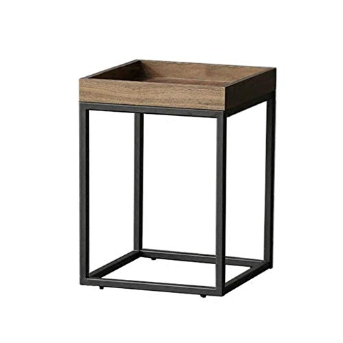- Yxsd Rustic Side Table - Modern Industrial Design Wooden Effect End Table, Nightstand, Bedside Or Telephone Table - Lounge, Dining Or Living Room Furniture