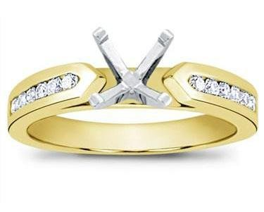 0.75 ct Ladies Round Cut Diamond Semi Mounting Ring in 14 kt Yellow Gold in Size 9 14k Yellow Gold Ring Mounting