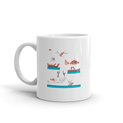 (Flat Coast Guard Vehicle Coffee Awesome Mugs Ceramic 11 Oz Cups)