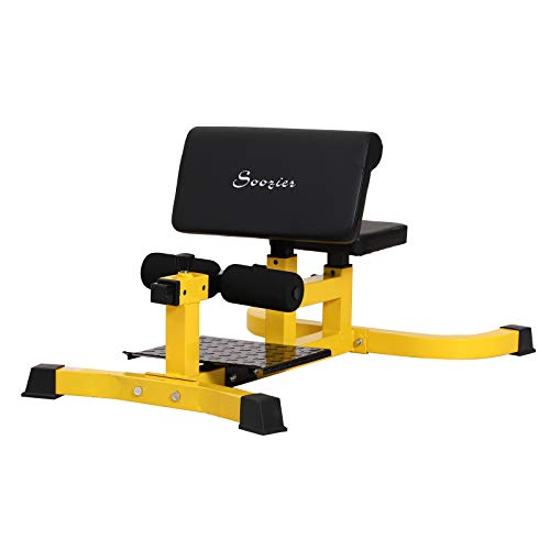 Soozier Adjustable Squat Bench Trainer Sit Up Machine Ab Curl Workout Home Gym