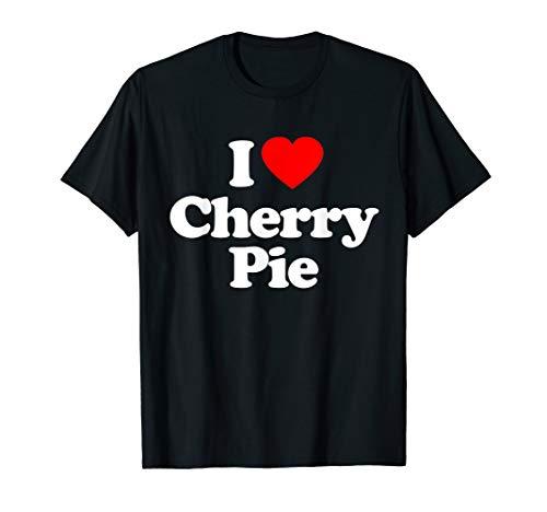 (I Love Cherry Pie Heart Funny Gift T-Shirt)