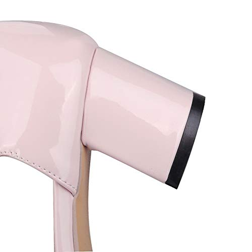 Tacco Fibbia Medio Ballet Punta Donna Gmmdb008430 Rosa flats Puro Chiusa Trafilatura Agoolar S6waIqS
