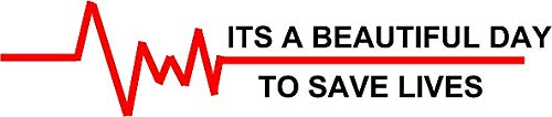 ITS A Beautiful Day to Save Lives Sticker Decal Window Bumper Sticker Vinyl 5