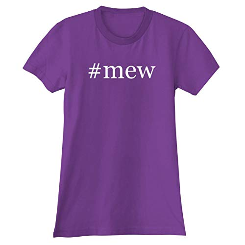 #mew - A Soft & Comfortable Hashtag Women's Junior Cut T-Shirt, Purple, Medium]()