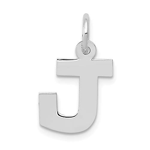 Jewelry Pendants & Charms Themed Charms 14k White Gold Small Block Initial J Charm ()