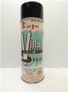 Nu Kote Paint Vinyl Plastic Color Spray Can Ebony Black Pressure Pak Furniture Collectible Vintage